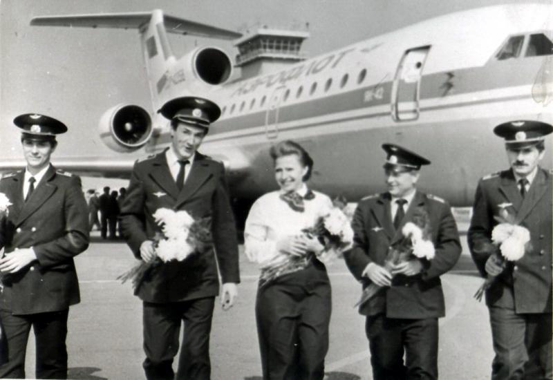 Перший рейс Як-42 в Хмельницькому, 1988 рік.