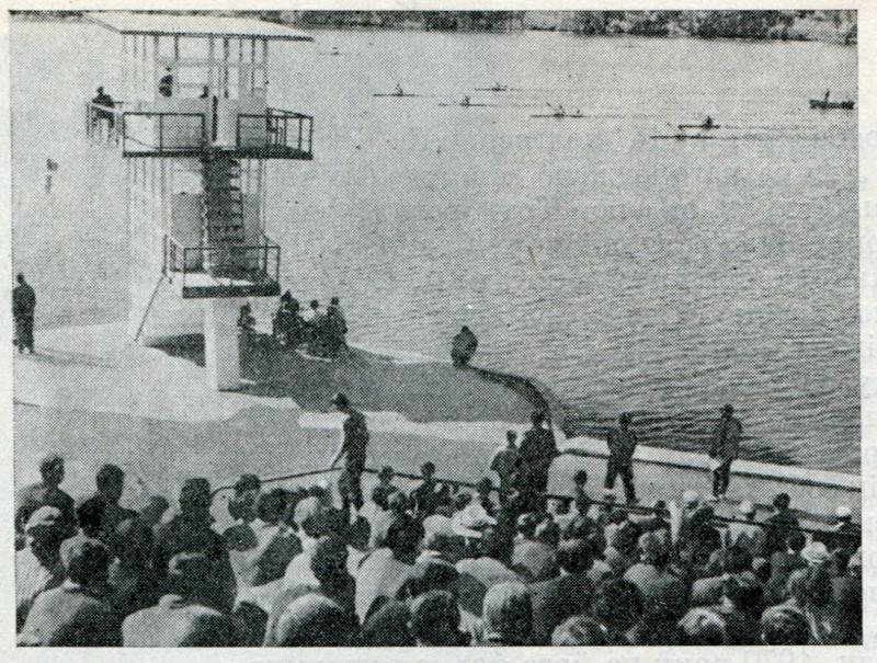 3.Змагання веслярів на водосховищі в Ружичній, 1966 рік.