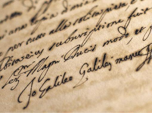 Звинувачення Галілео Галілея в єресі. З підписом обвинуваченого.