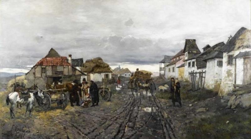 Одну з найвідоміших своїх картин Франц Рубо написав в Ярмолинцях