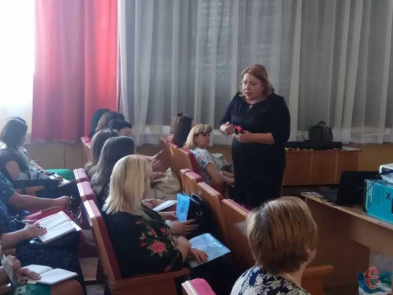 Алевтина Багінська розповіла освітянам, як на практиці змінює систему навчання у столичній гімназії.