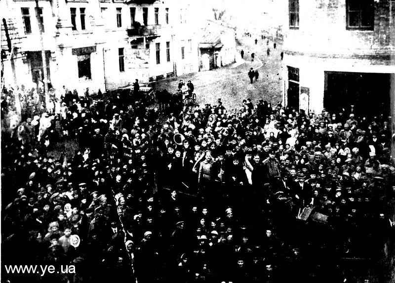 Мітинг у Проскурові на підтримку революції, 1917 рік.