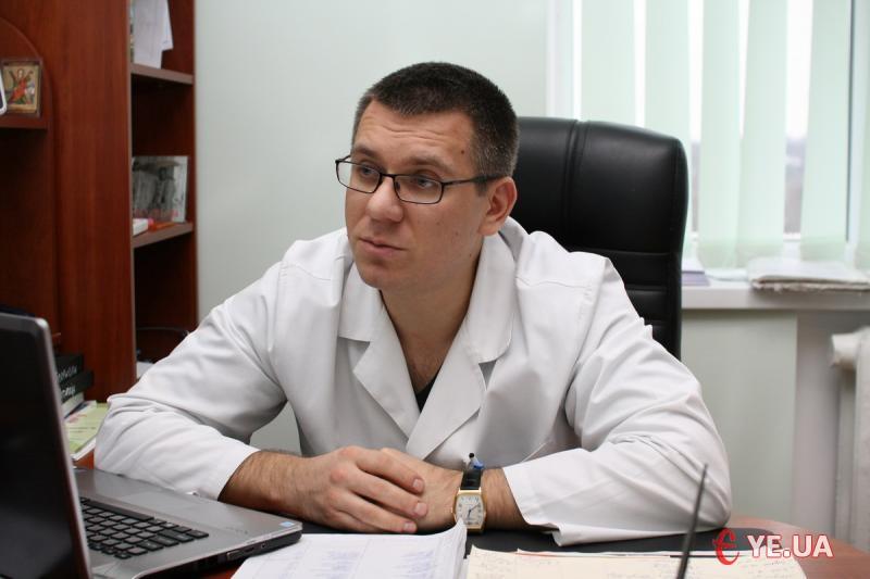 Завідуючий відділенням кардіоендоваскулярної хірургії та інтервенційної радіології Хмельницької обласної лікарні Андрій Кланца.