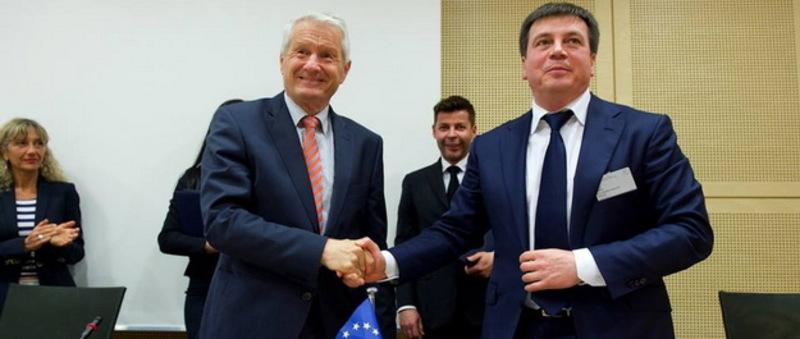 Віце-прем'єр, глава Мінрегіонбуду Геннадій Зубко та генсек Ради Європи Турбйорн Ягланд