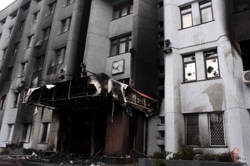 Управління СБУ у Хмельницькій області після пожежі