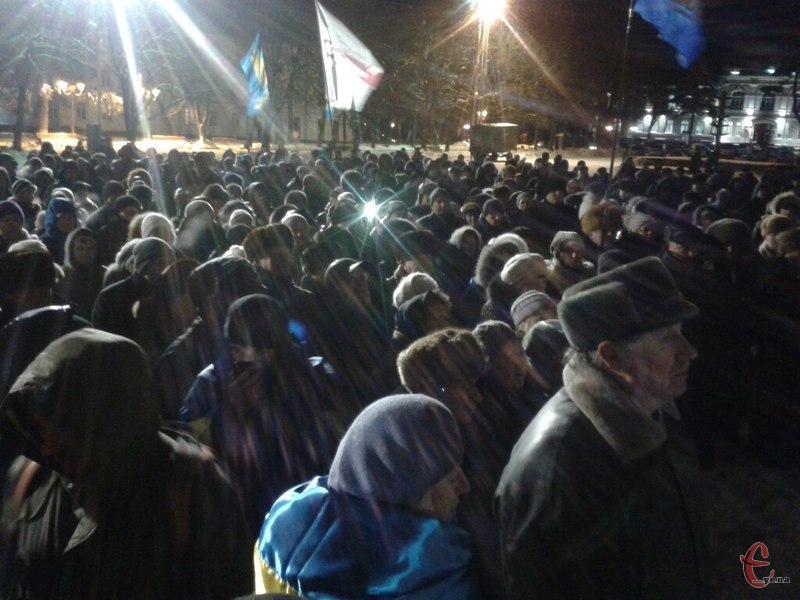 Хмельницький Майдан. 22 січня 2014 року.
