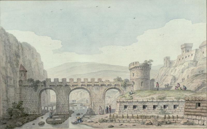 Малюнок Замкового місту 1781 року, який належить перу Жана Анрі Мюнца