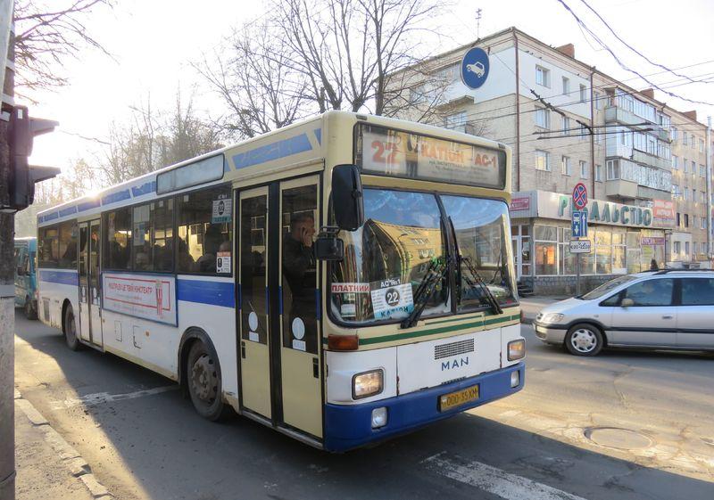 Змінено схему руху автобусів на маршруті № 22