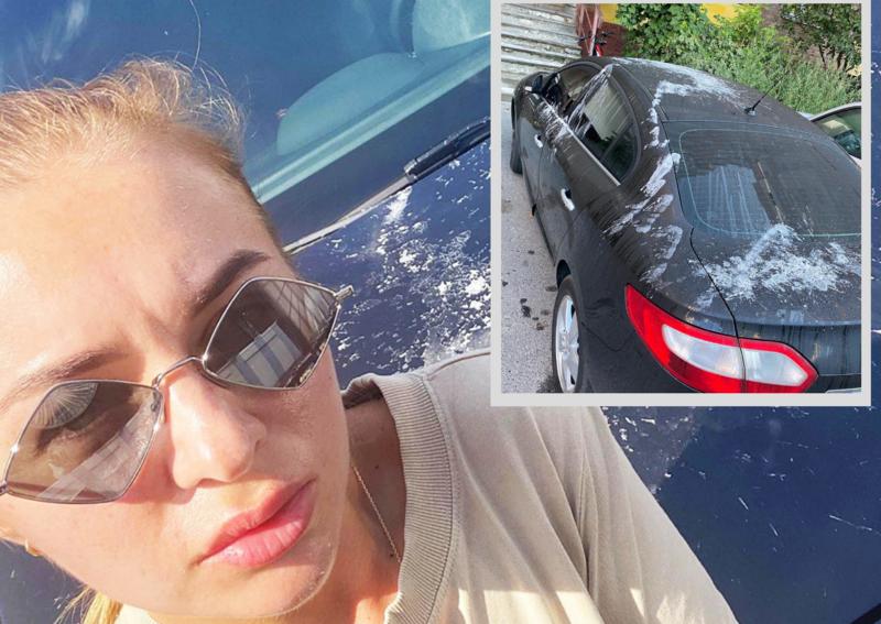 Блогерка сфотографувала зіпсований автомобіль і виставила фото в інстаграм. Фото: з інстаграм-сторінки gadzhamura.lilia