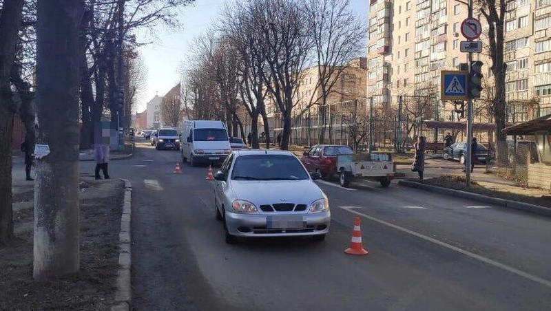 Аварія сталася на вулиці Трудовій