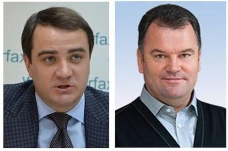 Голова бюджетного комітету Павленко (ліворуч) та його заступник Мельник