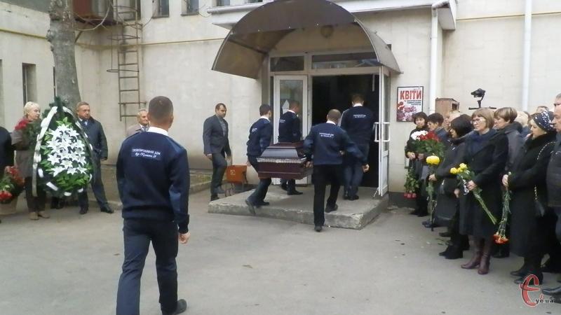 Прощання з Володимиром Леонтійовичем відбулося у приміщенні ритуальної служби