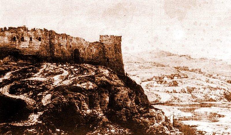 Жванецький замок, літографія Наполеона Орди 1876 року