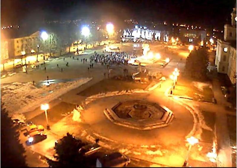 Хмельничани знову вийшли на майдан, 18 лютого 2014 рік