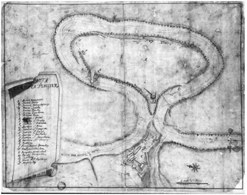 Військово-топографічний план Кам'янця-Подільського, розроблений 1735 року