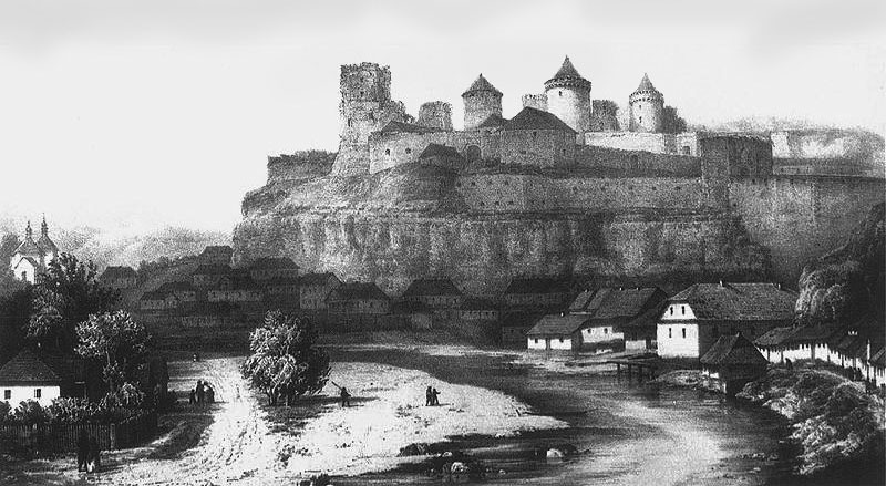 Й у ХІХ столітті Карвасари прилягали до Кам\'янець-Подільської фортеці. Малюнок Наполеона Орди