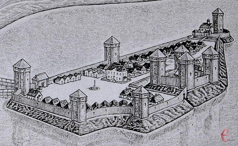 Так міг виглядати плоскирівський замок за згадками в шляхових записках Ульріха фон Вердума від 24 листопада 1671 року