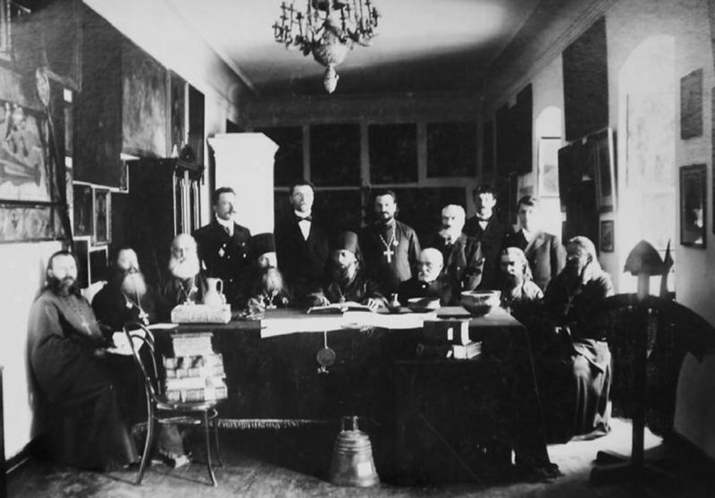Засідання єпархіального історико-статистичного комітету. Кінець 80-х років ХІХ століття