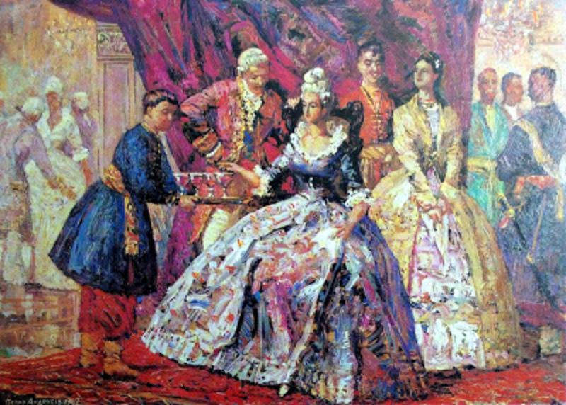 В листопаді у XVII столітті у шляхетських маєтках Поділля розпочинався бальний сезон