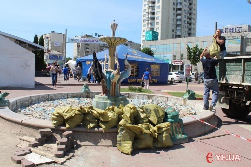 Востаннє фонтан «із жабенятами» відновлювали у 2013 році