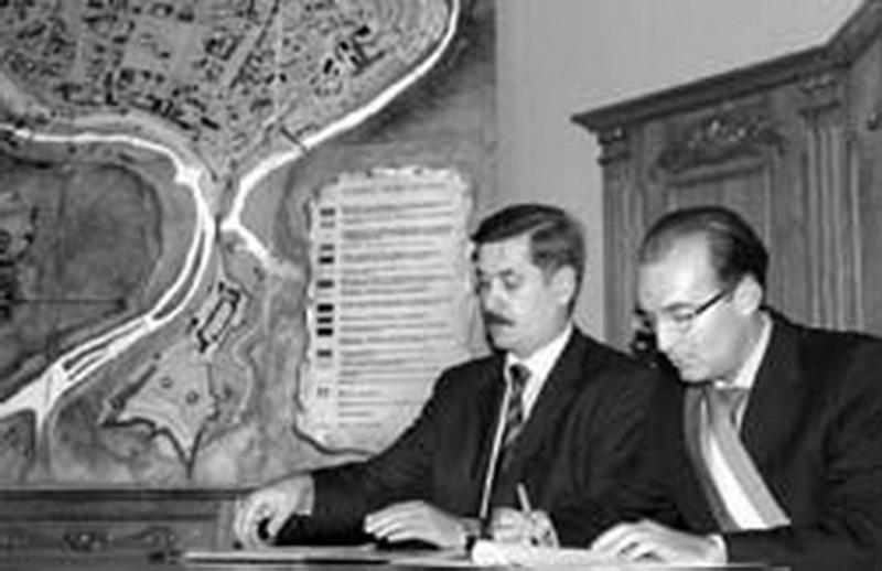 Підписання угоди про побратимство між містами Понте-Ламбро та Кам'янець-Подільський