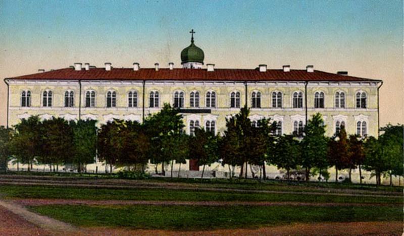 Гімназія у Кам\'янці-Подільському, листівка початку ХХ століття