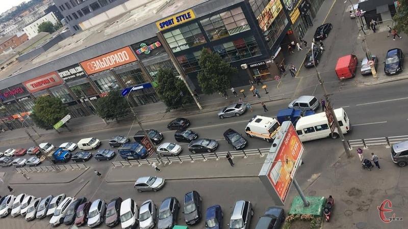 Аварія сталася у самому центрі міста