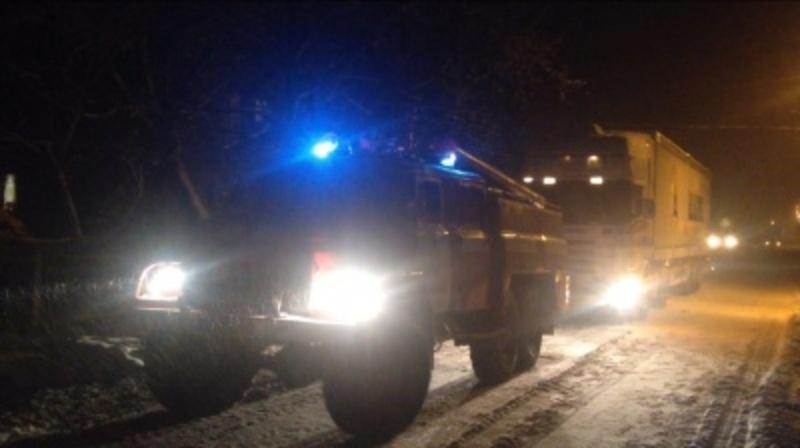 Через ожеледицю у Деражнянському районі застрягли одразу дві вантажівки