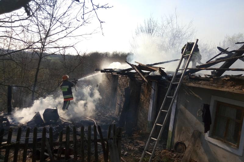Під час ліквідації пожежі, що сталася через підпал сухостою, вогнеборці врятували житловий будинок