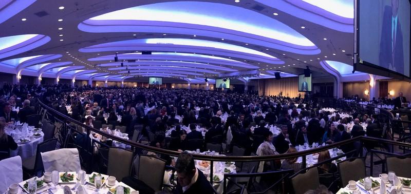 На Національному щорічному сніданку у Вашингтоні цього року було понад чотири тисячі осіб.