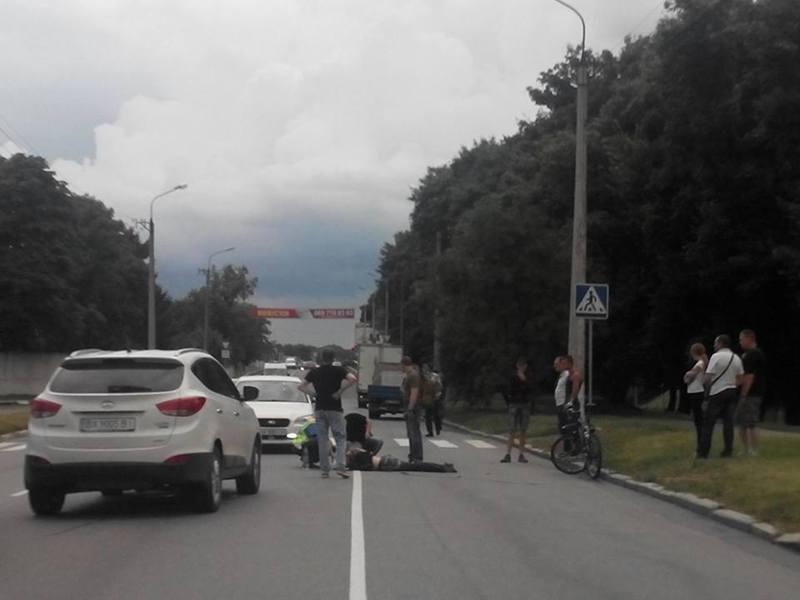 Велосипедист отримав тілесні ушкодження