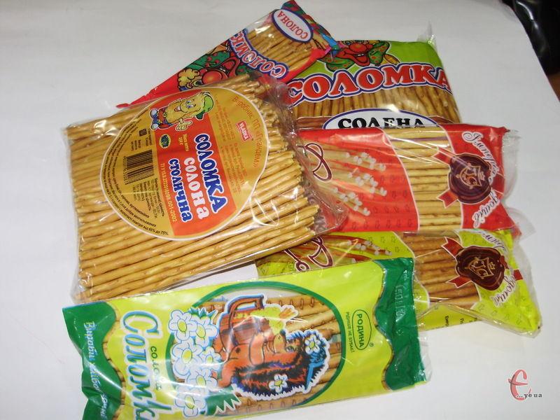 Печиво різних марок відрізнялося як за формою, так і за довжиною «соломинок» та кількістю солі у продукті.