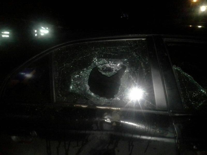 Під час стрілянини побили автомобіль BMW