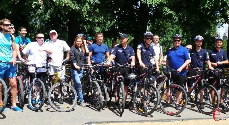 Разом з велосипедистами у Зеленому велопараді взяли участь міліцейські велопатрулі