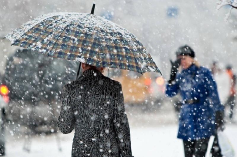 У середу прогнозуть мокрий сніг