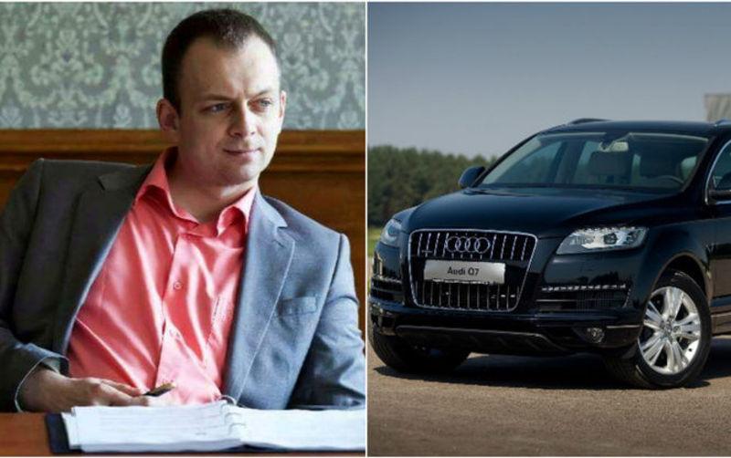 Підозрюють, що Дмитро Сус пересувався на дорогій автівці, яку не вказав в анкеті чесноти, а саме авто належить його 85-річній бабусі