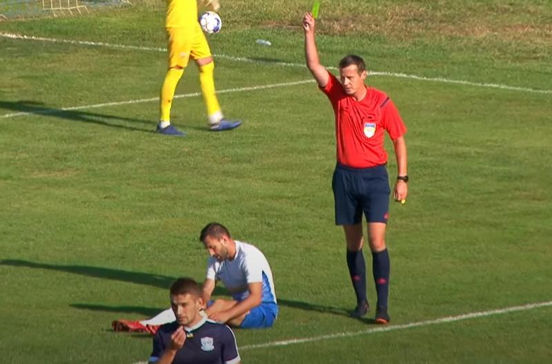 Юрій Іванов показав 8 жовтих карток футболістам Агробізнеса та 3 гірчичники гравцям Миная
