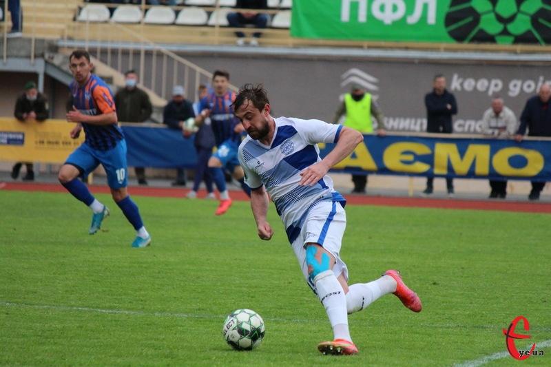Віталій Каверін відкрив рахунок у матчі Епіцентра проти Поділля на 18 хвилині