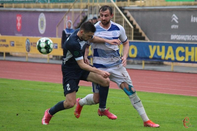 Віталій Каверін став автором єдиного голу в матчі Поділля - Чайка, який приніс перемогу команді з Хмельницького