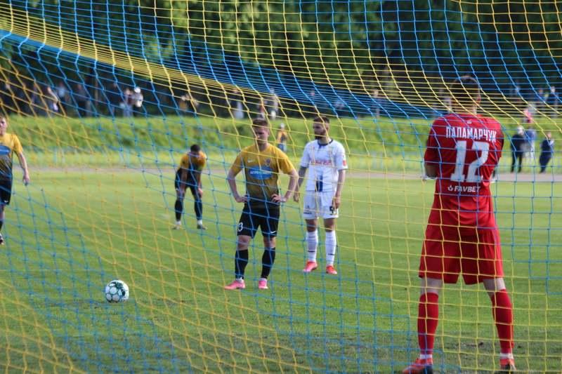 У матчі Агробізнес - Чорноморець усе вирішив один гол, який з пенальті забив Руслан Черненко