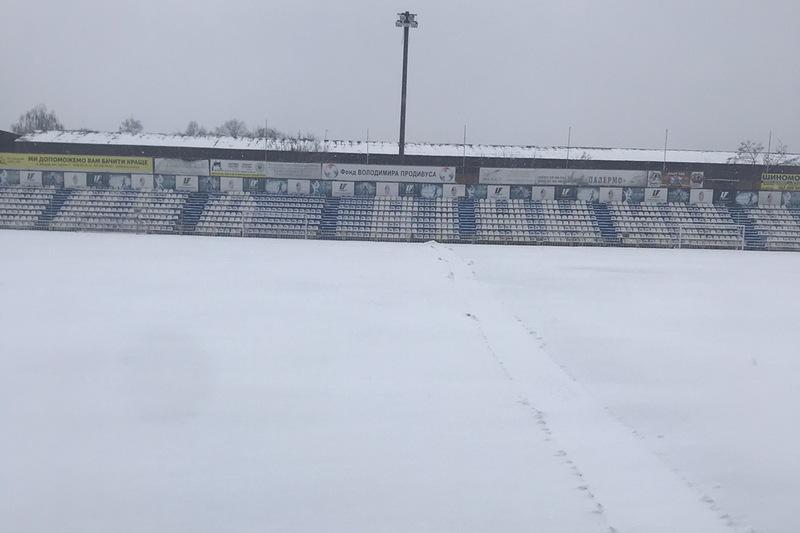 У Вінниці через сніг скасували товариський матч Ниви проти Поділля