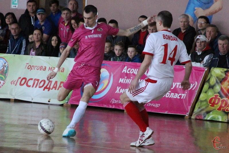 Гол Дмитра Калукова став єдиним для хмельничан у третьому півфіанльноум матчі Спортлідера+ з харківським Локомотивом