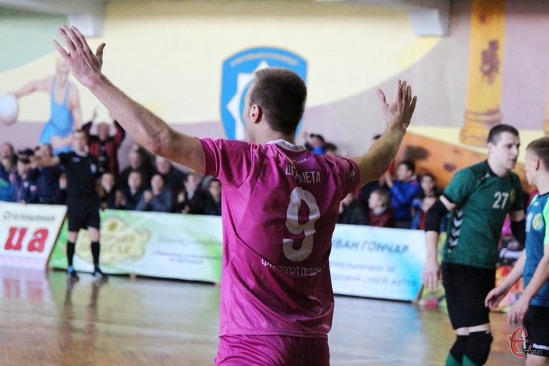 Руслан Шеремета, автор двох голів у матчі з Кардиналом-Рівне