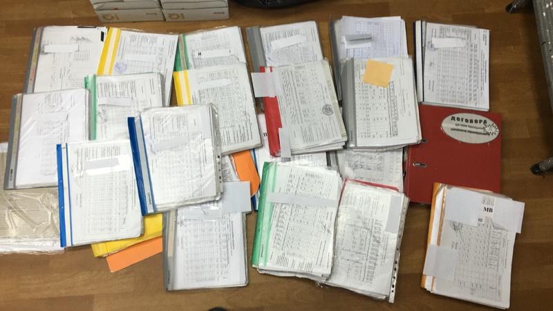 Фахівці вилучили велику кількість бухгалтерських документів