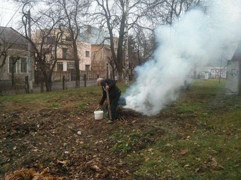 Спалювання сухої рослинності, опалого листя та будь-яких інших відходів на території міста категорично забороняється