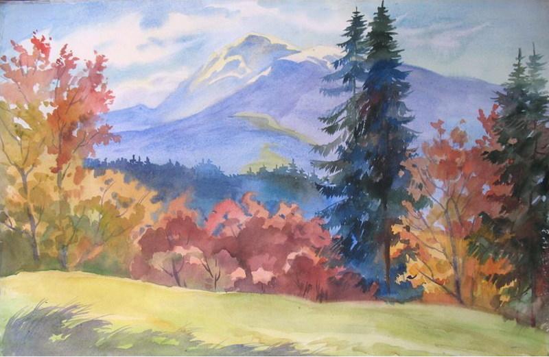 Особливе місце у творчості художниці займають гори
