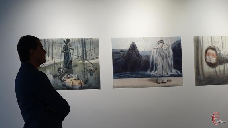 У Хмельницькому відкрили персональну виставку «Великий Інший» київського художника