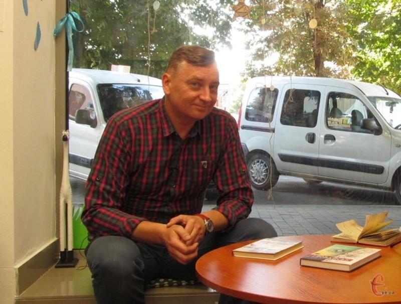 Євген Положій привіз у Хмельницький нову книгу