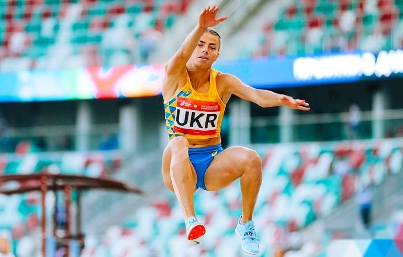 Хмельничанці Марині Бех-Романчук її результат 6,85 метра приніс срібло. Фото: з інстаграму Марини Бех-Романчук