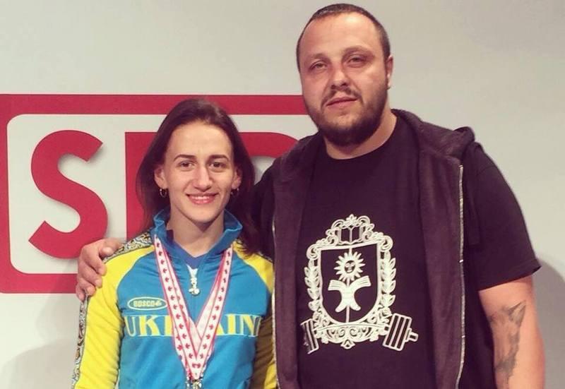 Тетяна Щавінська з тренером Віктором Цісаром